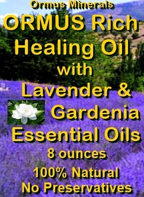 Ormus Minerals -Ormus Rich Healing Oil with Lavender and Gardenia Essential Oils